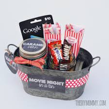 gift basket idea a movie night in a tin includes free printable