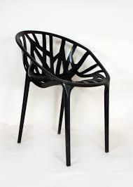 mid century modern reproduction vegetal chair black