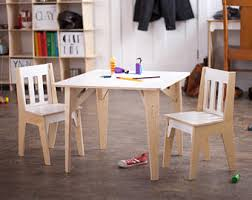 Toddler Table And Chairs Wood Kids U0027 Desks Tables U0026 Chairs Etsy