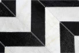 Black Cowhide Rugs Black And White Chevron Patchwork Cowhide Rug Design Shine Rugs
