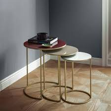 what are nesting tables enamel round nesting tables set of 3 west elm