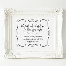 words of wisdom bridal shower wedding advice sign words of wisdom sign wedding shower