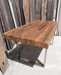 reclaimed wood table with metal legs reclaimed wood and metal dining table dining room ideas