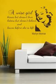 Wise Decor by Wall Decals Quotes A Wise Kisses But Doesn U0027t Love Marilyn