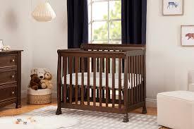 Mini Cribs With Changing Table Kalani 2 In 1 Mini Crib And Bed Davinci Baby