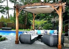 pergola canopy shade canada under retractable replacement