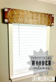 Curtain Box Valance High Style Low Budget U2014 Industrial Wooden Valance