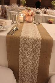 lace table runners wedding burlap lace table runner 16 00 via etsy lovely wedding day