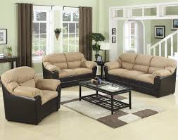 chairs u0026 benches 3 piece living room set beige and brown