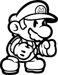 super mario boxing coloring page wecoloringpage