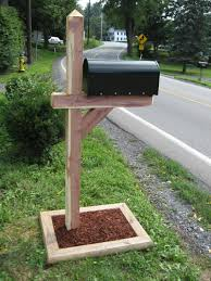 mailbox post plans diy step by step plans mailbox post