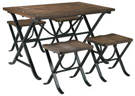 Industrial Style Furniture by Industrial Style Rectangular Dining Room Table Set By Signature