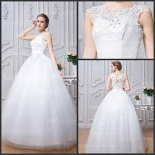 white wedding gowns lace wedding dresses white crew neck cap sleeves lace up