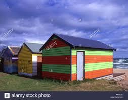 beach huts at dromana mornington peninsula victoria australia