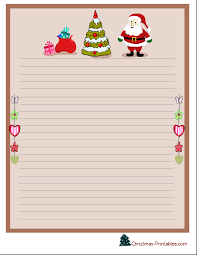 free printable writing paper to santa printable christmas stationery