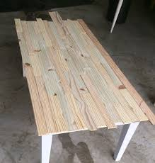 Making A Wood Plank Table Top by Make Wood Shims From Reclaimed Wood And Resurface A Coffee Table