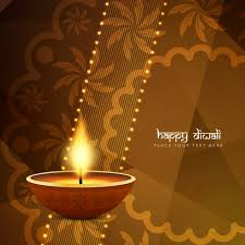 brown background with ornaments for diwali vector free
