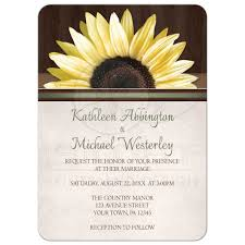 sunflower wedding invitations invitations country sunflower wood rustic