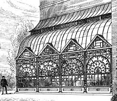 draft for a greenhouse design by e w godwin and or maurice b