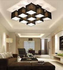 Ceiling Lights For Sitting Room Country Style Multi Square Shade Ceiling Light Dinner Room L