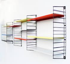 Kitchen Shelving Units wall mounted kitchen metal shelving units with colorfull painting