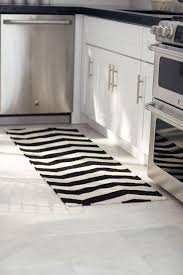 Striped Kitchen Rug Collection In Black And White Striped Kitchen Rug With Kitchen