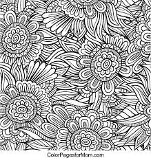 flower abstract doodle zentangle paisley coloring pages colouring
