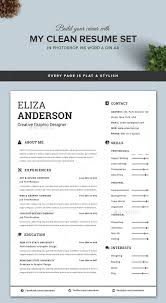 Example Of A Modern Resume by Wonderful Looking Clean Resume Template 16 Personalize A Modern In