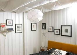 Affordable Basement Ideas by Basement Ceiling Fabric