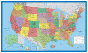 wall maps classic elite united states wall map poster