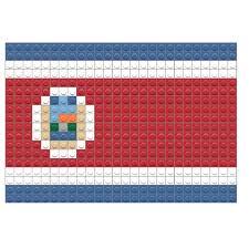 Costarica Flag Flag Of Costa Rica Pixel Art U2013 Brik
