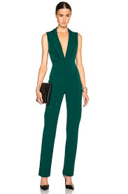 jumpsuit in image 1 of cushnie et ochs power stretch viscose jumpsuit in