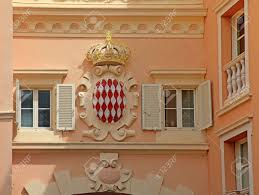 architectural detail with monaco coat of arms royal arms of