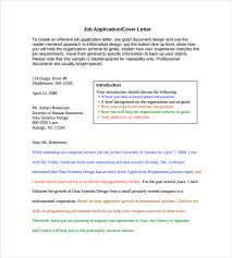 employment cover letter template u2013 8 free word pdf documents
