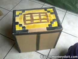 How To Make A Crafting Table How To Craft Minecraft Style Using Cardboard