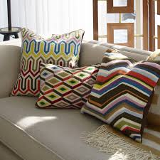 diamonds bargello multi throw pillow throw pillows jonathan adler