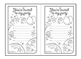 birthday party invitation templates ichild