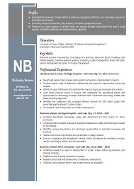 Best Resume Format Business Analyst by Nicholas Brown Resume Blue Png