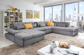 Wohnzimmer Einrichten Poco Poco Polstermöbel Houston U Förmiges Sofa In Grau Möbel Letz