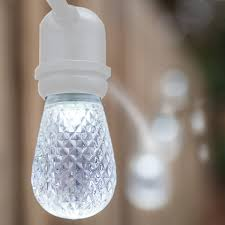 Cool White Led String Lights by Led Outdoor Patio String Lights Top Qedertek Solar String Lights