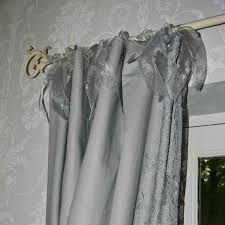 Shabby Chic Voile Curtains Marvelous Tie Top Curtains And Linen Linen Voile Tie Top Sheer