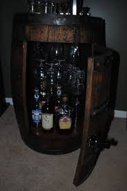 How To Make A Lazy Susan For A Kitchen Cabinet Whiskey Barrel Liquor Cabinet For The Home Pinterest Liquor