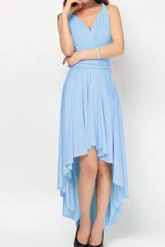 gray blue high low infinity bridesmaid dresses hl 39 49 50