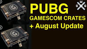 pubg aug pubg 2x gamescom crate openings august update overview