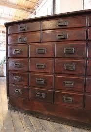 Hardware Storage Cabinet Vintage Industrial Wood Hardware Multi Drawer Storage Apothecary
