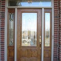 Patio Door With Sidelights Exterior Grey Wooden Six Panel Entry Door With Double Side Light
