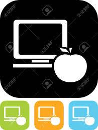 icone bureau ordinateur de bureau et de pomme vecteur icône clip libres de