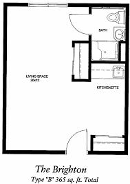 400 sq ft studio floor plan home