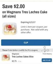 wegmans tres leches cake slice 1 75 how to shop for free with