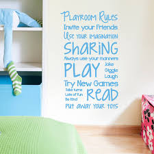 children s wall stickers wall stickers playroom rules wall sticker